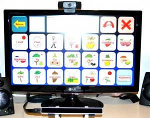 The Eye Tribe on a 24 inch LCD screen with a desktop computer